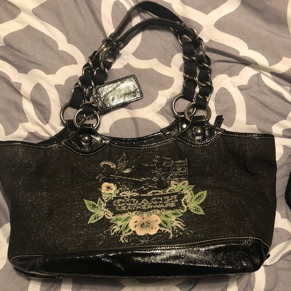 Coach Handbags - USED AUTHENTIC BLACK COACH TATTOO BAG  A0973-13661 919d2e3e8499e